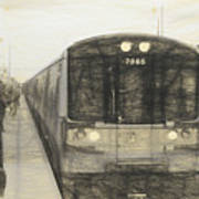 Train Sketch Poster