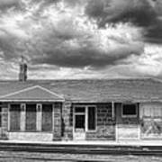 Train Stop Bw Poster