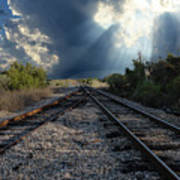 Train Track Junction In Charleston Sc Poster
