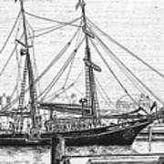 Training Ship Tabor Boy At Woods Hole Town Dock Poster