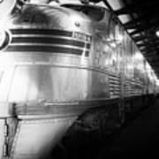 Trains Emd E5 Diesel Locomotive Bw Poster
