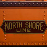 Trains North Shore Line Chicago Signage Poster