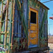 Trains Wooden Box Car Yellow Door Poster