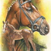 Trakehner Poster by Barbara Keith