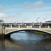 Tram On The Sean Heuston Bridge Poster