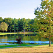 Tranquil Landscape At A Lake 6 Poster