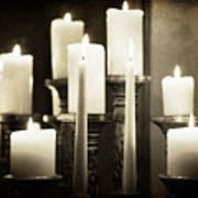 Tranquility Of Candlelight Poster