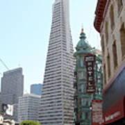 Transamerica Pyramid Through North Beach San Francisco . 7434 Poster