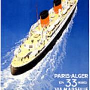Transatlantic Ocean Liner Poster