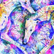 Transcendent Greyhounds Poster
