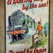Travel By Train Poster
