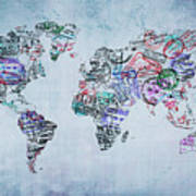 Traveler World Map Poster