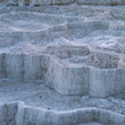 Mammoth Hot Springs Travertine Terraces Two Poster