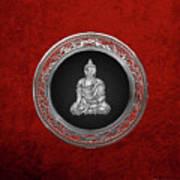 Treasure Trove - Silver Buddha On Red Velvet Poster