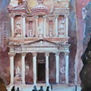 Treasury Building Petra Jordan Poster