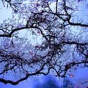 Tree Fantasy In Blue Poster
