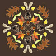 Tree Mandala 1 - Watercolor Poster