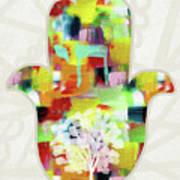 Tree Of Life Hamsa- Art By Linda Woods Poster