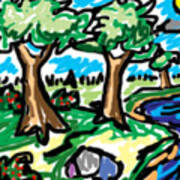 Trees W Water Ddl Poster