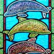 Tres Dolphins Poster