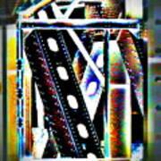 Trestle Detail Black White Grey Poster