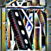 Trestle Detail Black Yellow Poster