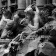 Trevi Fountain Detail 2 Poster