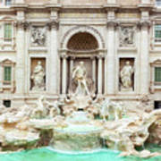 Trevi Fountain, Fontana Di Trevi, After The Restoration Of 2015  Poster