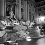 Trevi Fountain Night 2 Poster