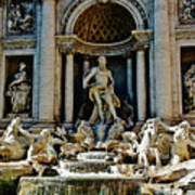 Trevi Fountain Vertical  Poster