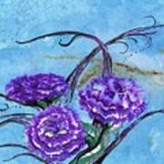 Tri  Flower Bleau Poster