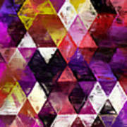 Triangles Impressionism Poster