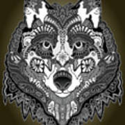 Tribal Wolf Poster