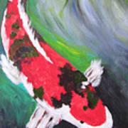 Tricolored Koi Poster