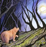 Trillium Moon Poster
