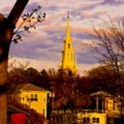 Trinity Church Spring Sunset Poster