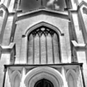 Trinity Episcopal Cathedral Black And White Poster