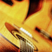Trio Of Acoustic Guitars Poster