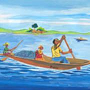 Trip To Lake Kivu In Congo Poster
