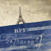 Trip To Paris Square Pillow Size Poster