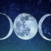 Triple Moon Milkyway Poster