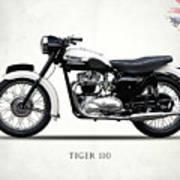 Triumph Tiger 110 1959 Poster