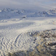 Triumvirate Glacier In Winter Light Poster