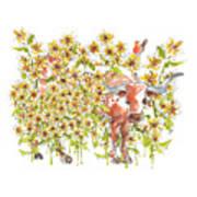Trivia Too A Texas Longhorn Sunflowers Lh072 Poster