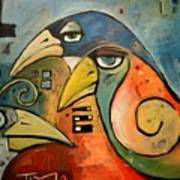 Trois Oiseaux Poster
