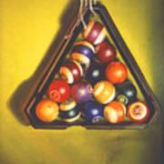 Billiard Balls Tromp'ole Poster