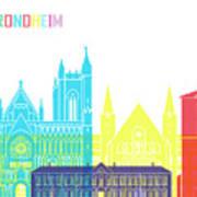 Trondheim Skyline Pop Poster