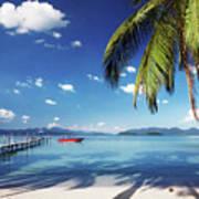 Tropical Beach Poster