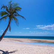 Tropical Blue Skies And White Sand Beaches Poster