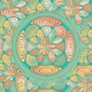 Tropical Color Abstract Poster
